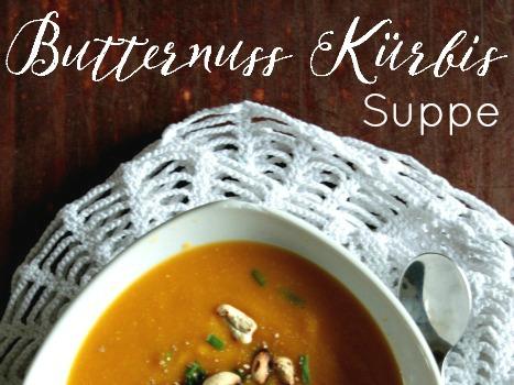 cremige Butternuss Kürbis Suppe
