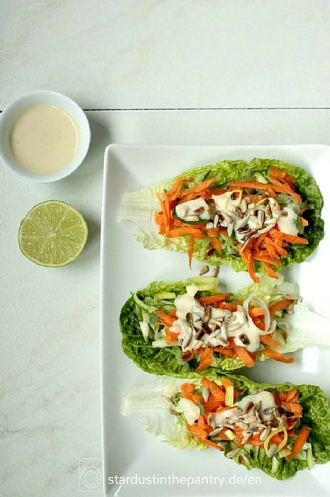 Light, healthy and delicious lettuce wraps #vegan