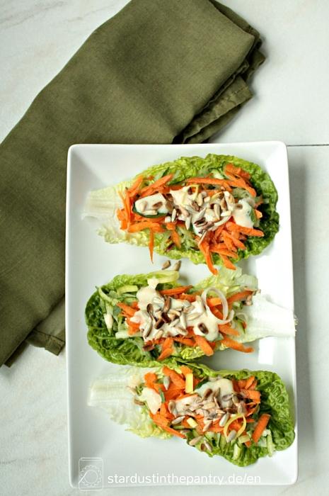 Vegane Salat Wraps #clean eating