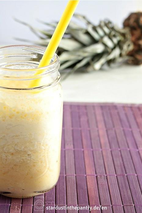 Leckerer Ananas Smoothie mit Ingwer und Zitrone!(1)