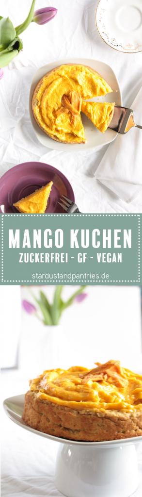 Zuckerfrei backen- gesunde und leckere Alternative für Naschkatzen_ Dieser Mango Kuchen ist vegan, glutenfrei und zuckerfrei und trotzdem sehr lecker