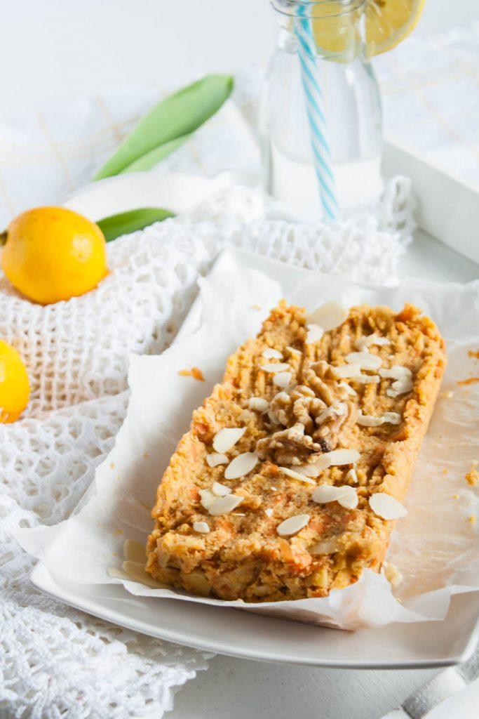 glutenfreier Karottenkuchen ohne Zucker, vegan! Die gesundes Alternative zu Kuchen.
