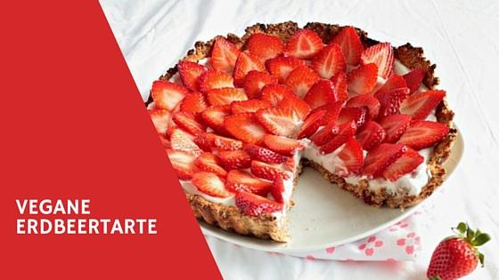 Vegane und glutenfreie Erdbeertarte