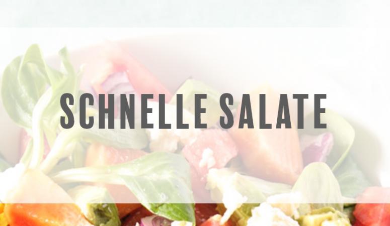 Schnelle Salat Rezepte. Leckere Salate für ein leichtes Abendessen, als Vorspeise oder zum Grillen.