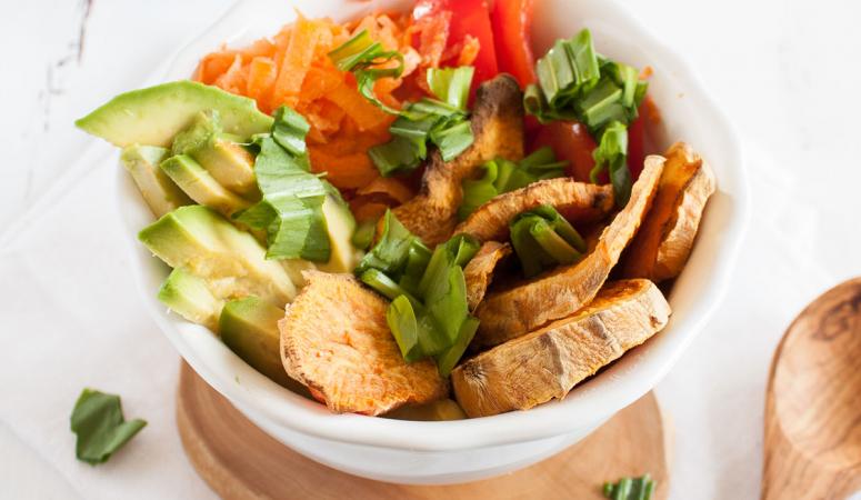 Salat mit Süßkartoffeln