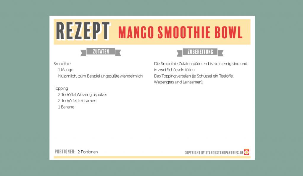 Vegane Mango Smoothie Bowl