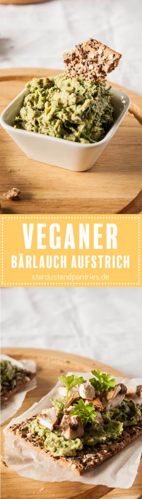Veganen Bärlauch Aufstrich selber machen geht ganz einfach! Der Bärlauch Aufstrich ist in wenigen Minuten fertig und schmackt sehr lecker zu Vollkorn-Knäckebrot