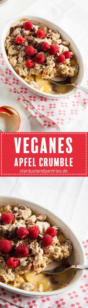 Veganes Apfel Crumble. Eine gesunde und leckere Nachtisch Alternative ohne Zucker!