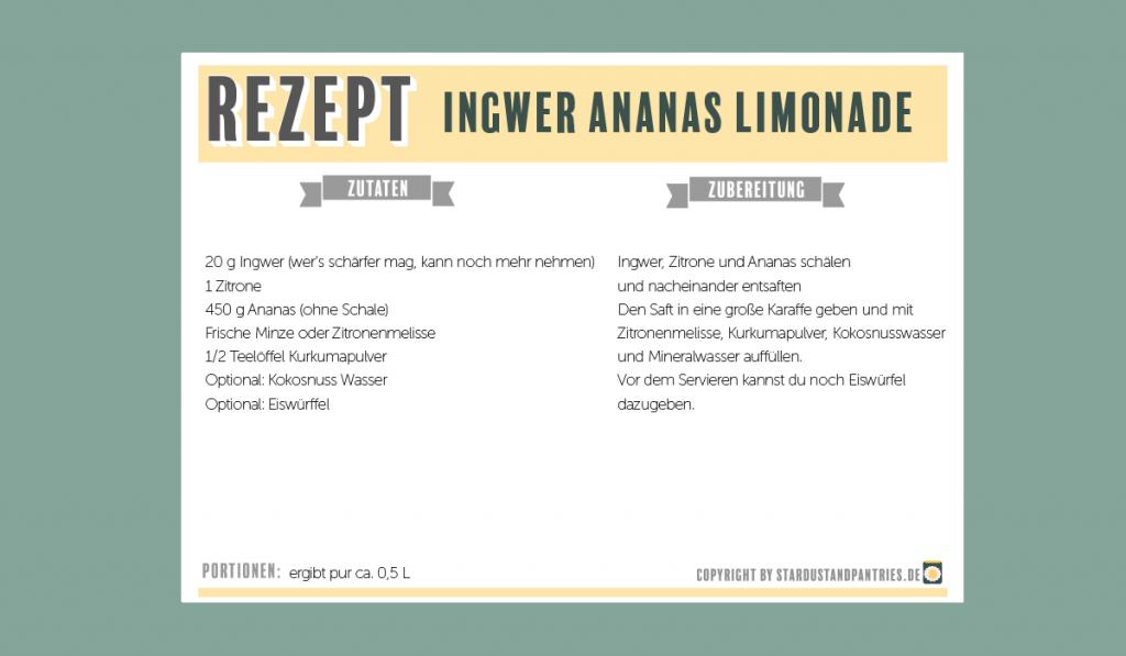 Ingwer Ananas Limonade