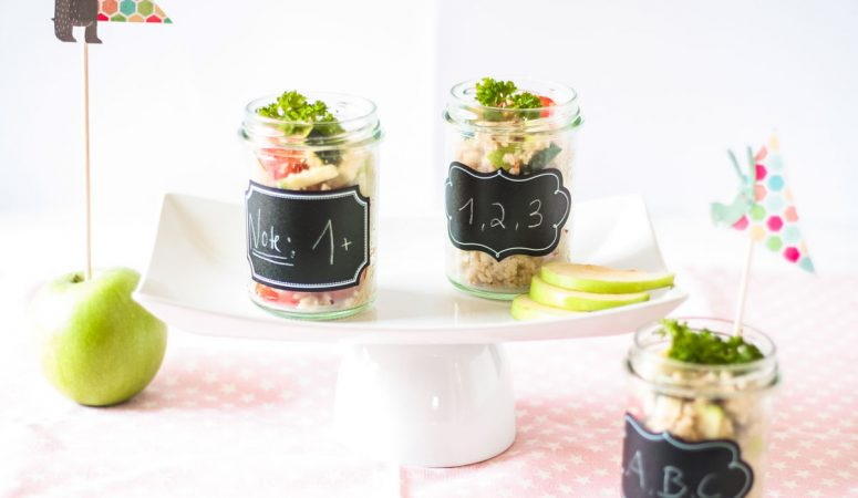 Vegan Monday Apfel Couscous Salat im Glas