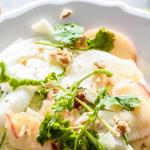 Fenchel Apfel Salat mit Ingwer Dressing