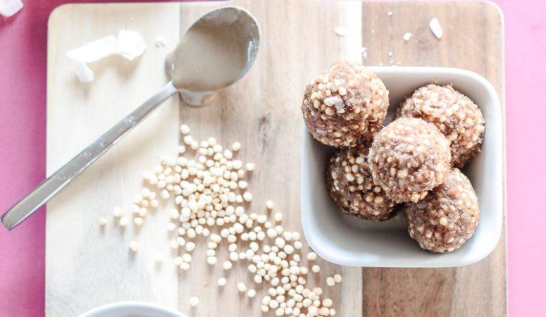 Glutenfreie, vegane und zuckerfreie Energy Balls