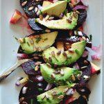 Salat mit rote Beete und Apfel