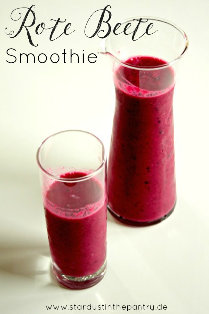 roter Smoothie mit roter Beete
