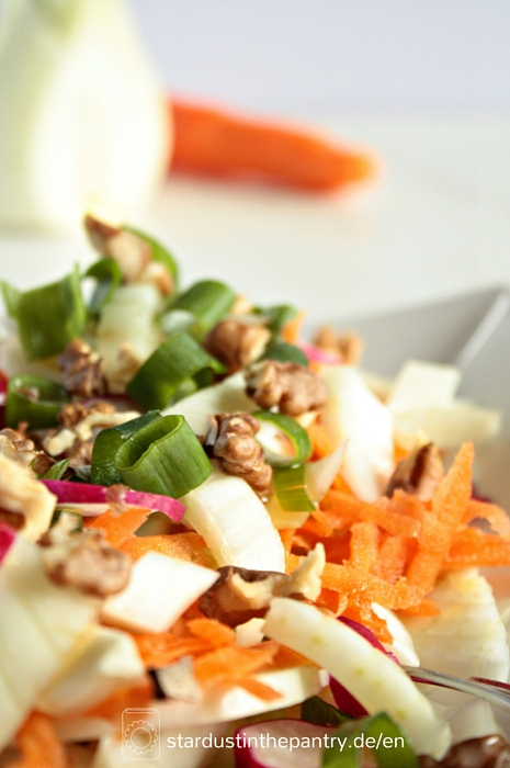 Leckerer bunter Fenchel Salat mit Walnüssen(2)