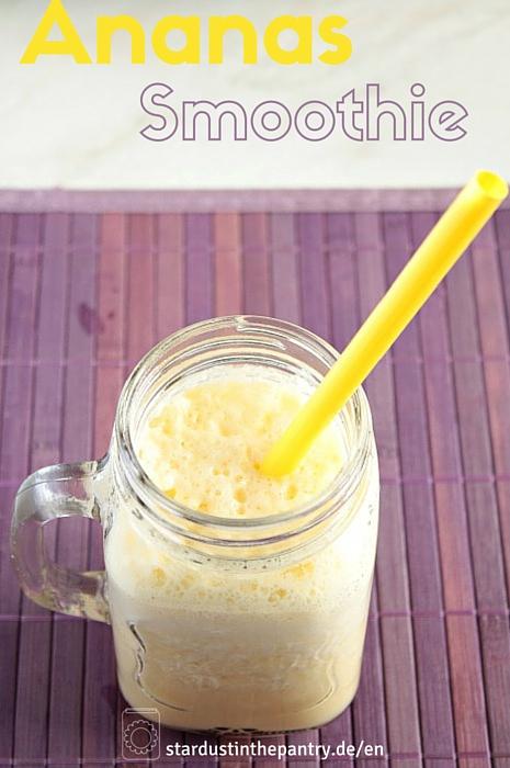 Fatburner Smoothie mit Ananas, Ingwer und Zitrone!