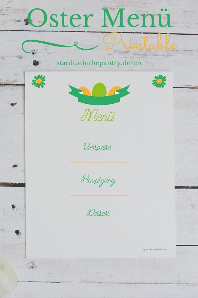 Oster Menü zum ausdrucken #Ostern