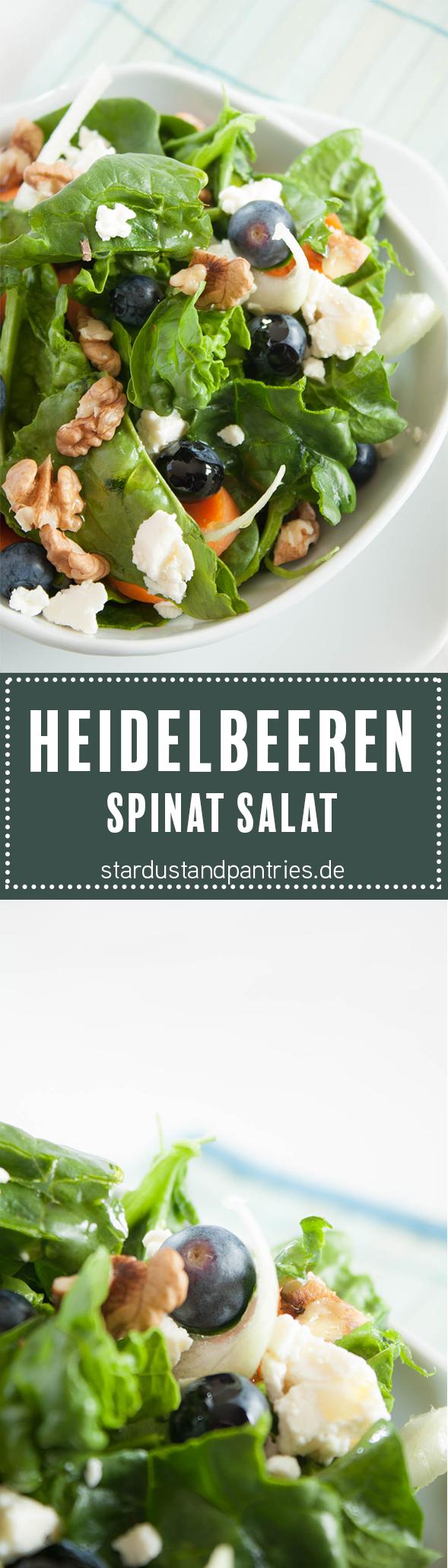 leckerer spinat salat mit waln sen und heidelbeeren dieser fruchtige salat ist schnell gemacht. Black Bedroom Furniture Sets. Home Design Ideas