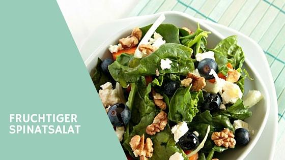 Spinat Salat mit Walnüssen