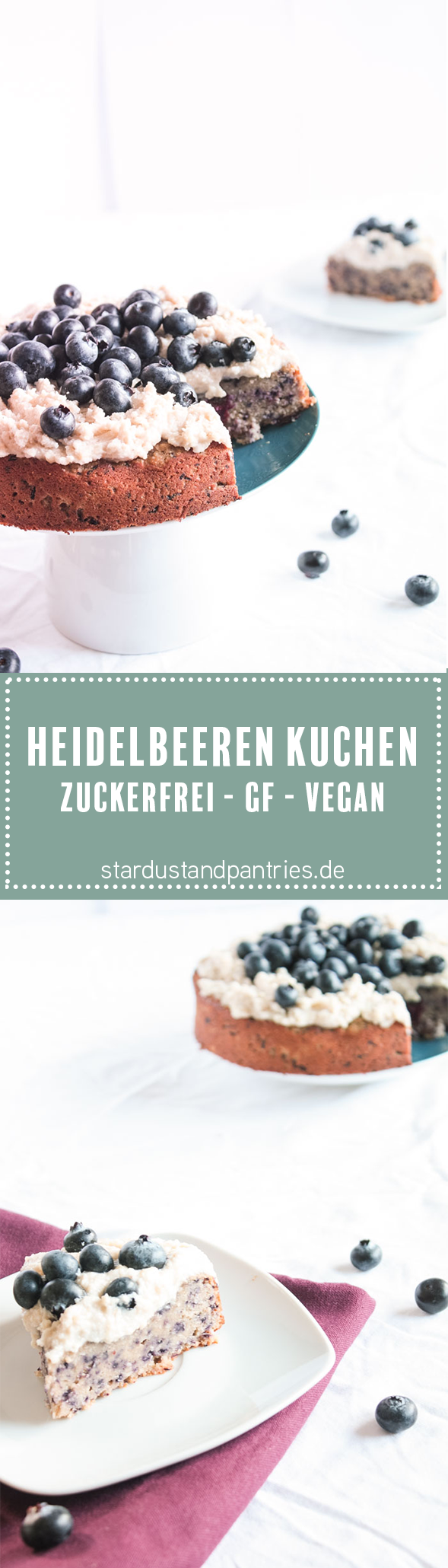 Zuckerfrei Backen Glutenfreier Und Veganer Heidelbeerenkuchen