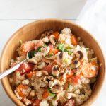 Veganer und schnell gemachter Couscous Salat