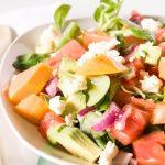 Vegetarischer Papaya Salat für ein leckeres und leichtes Abendessen. Perfekt an warmen Sommerabenden!