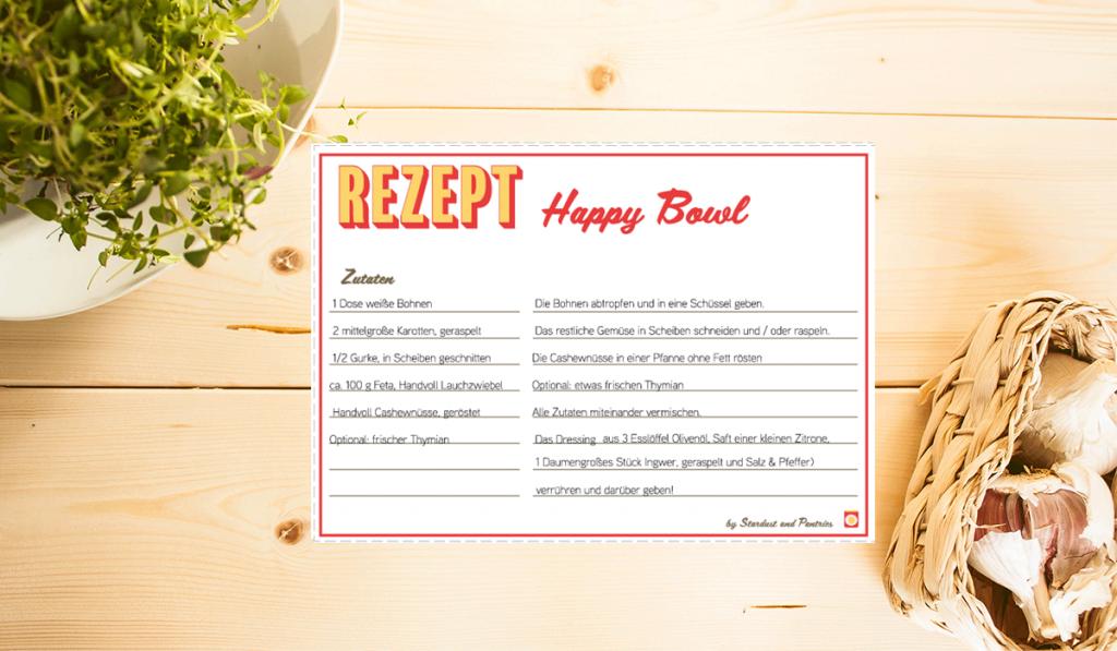 Leckere Happy Bowl - schnell und einfach gemachtes veggie Gericht!