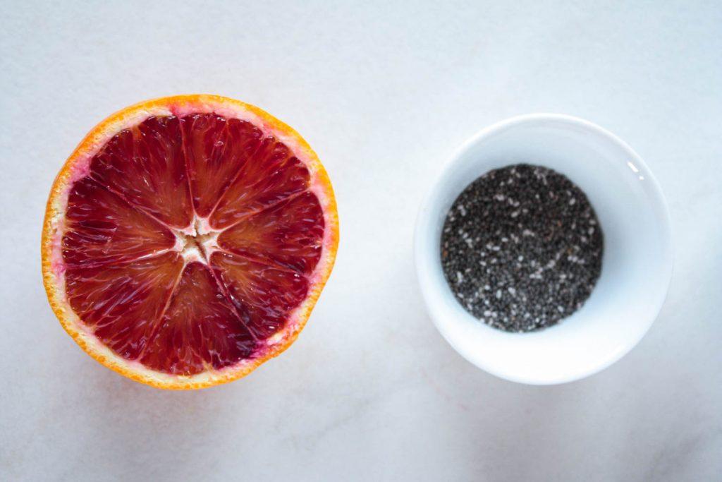 Veganer Blutorangen Chia Pudding: das perfekte Frühstück für Morgenmuffel!