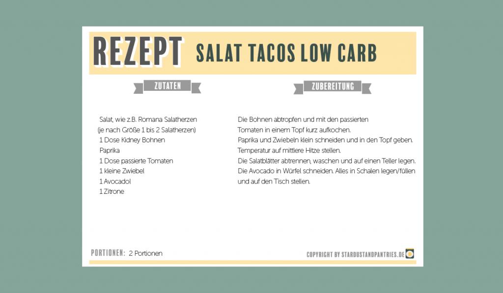 Vegane Low Carb Salat Tacos mit mexikanischer Füllung