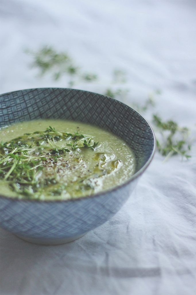 Kohlrabi-Kresse-Suppe