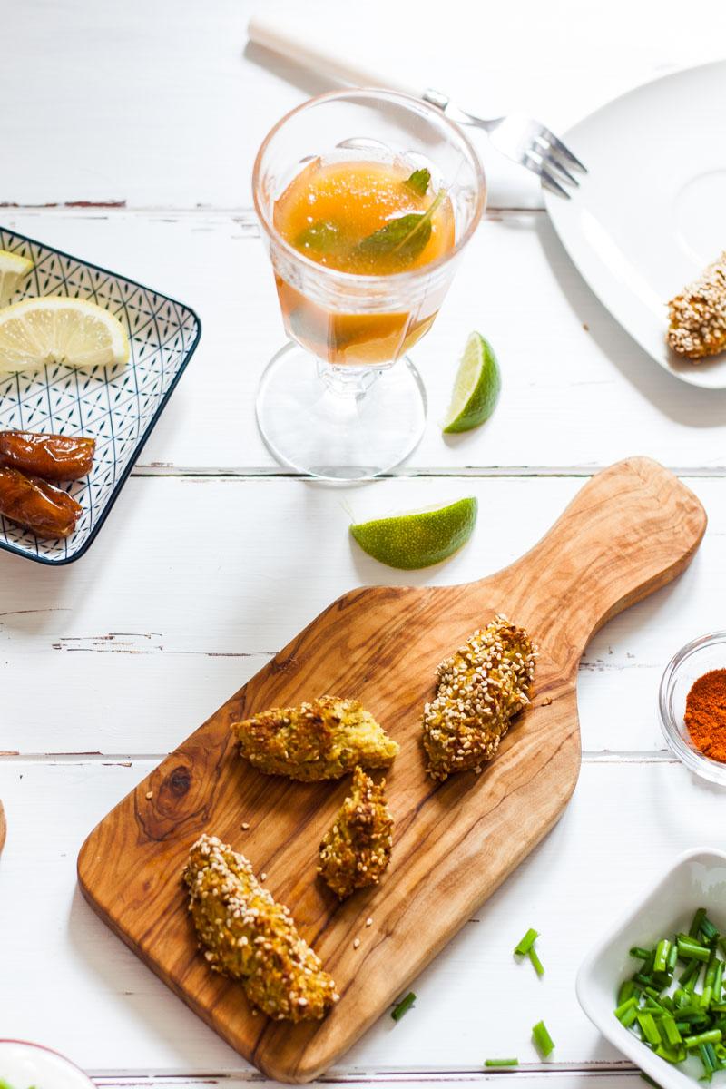 Knusprige Kohlrabi-Hafer-Sticks. Einfaches und gut vorzubereitendes Rezept für einen gesunden Snack