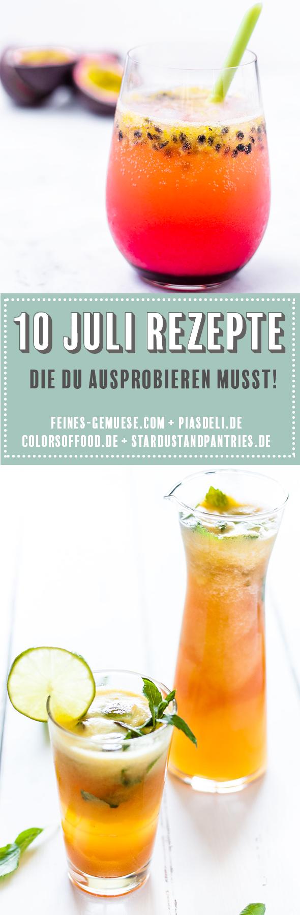 Saisonale Rezepte im Juli von deutschen Foodbloggern