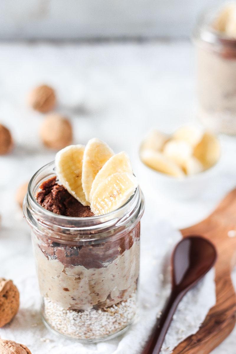 Gesundes veganes Frühstück aus Maronen, Kakao und Amaranth -zuckerfrei und glutenfrei! Ein herbstliches Frühstück das prima vorbereitet werden kann.