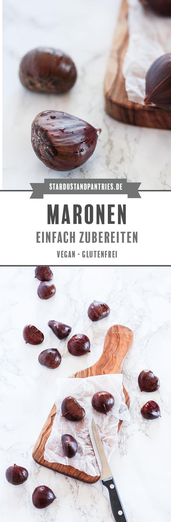 Maronen zubereiten geht ganz einfach. Maronen im Backofen rösten oder im Topf kochen - so geht's! #Maronen #Maronenzubereiten #Herbst