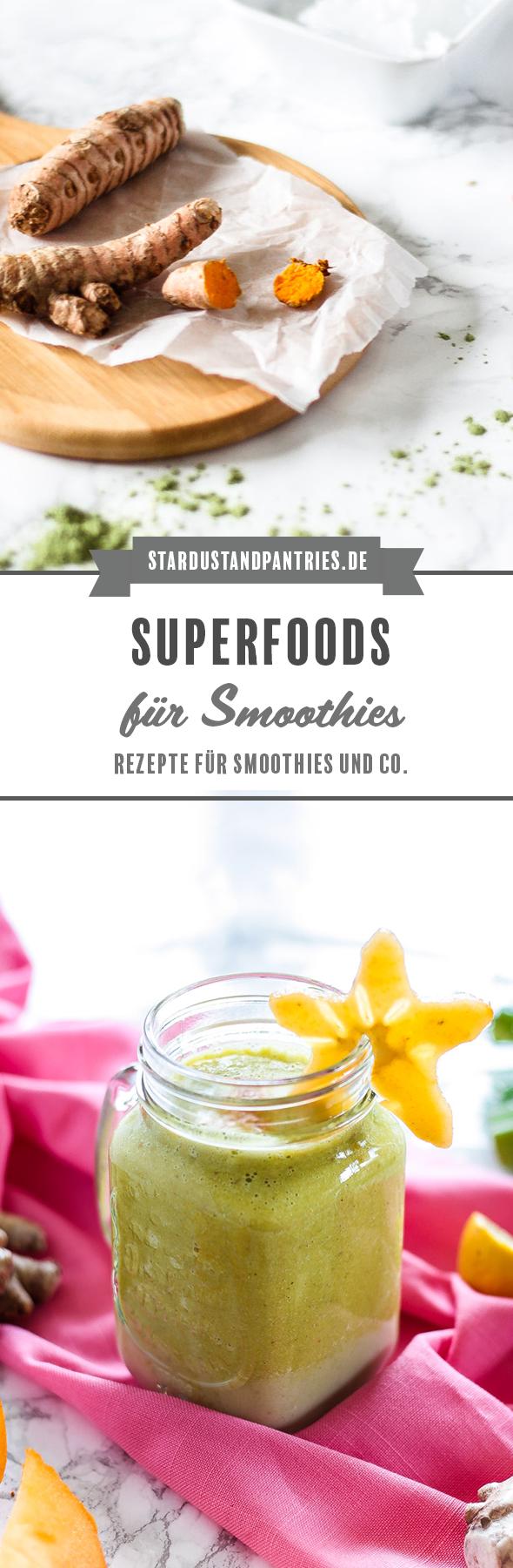 Warum sind Superfoods so gesund? Hier gibt's Rezepte mit Weizengraspulver, Ingwer, Kokosöl, Kurkuma und die Erklärung warum Superfoods in deinen SMoothie MÜSSEN1