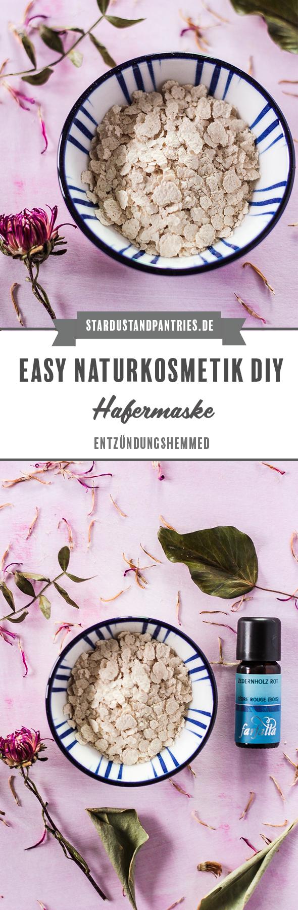 Naturkosmetik DIY: Eine schnelle Gesichtsmaske mit entzündungshemmenden Eigenschaften mit Hafer. #Naturkosmetik #DIY #Hautpflege