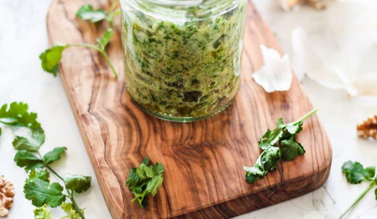 Vegan Monday – würziges Koriander Pesto
