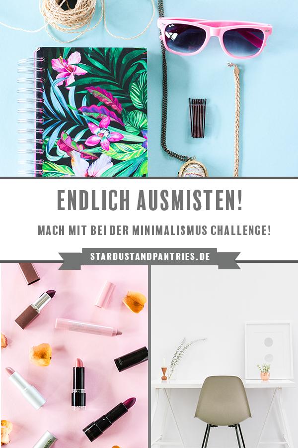 Du möchtest dein Zuhause ausmisten und endlich mal richtig aufräumen? Dann mach mit bei der Minimalismus Challenge! #ausmisten #minimalismus