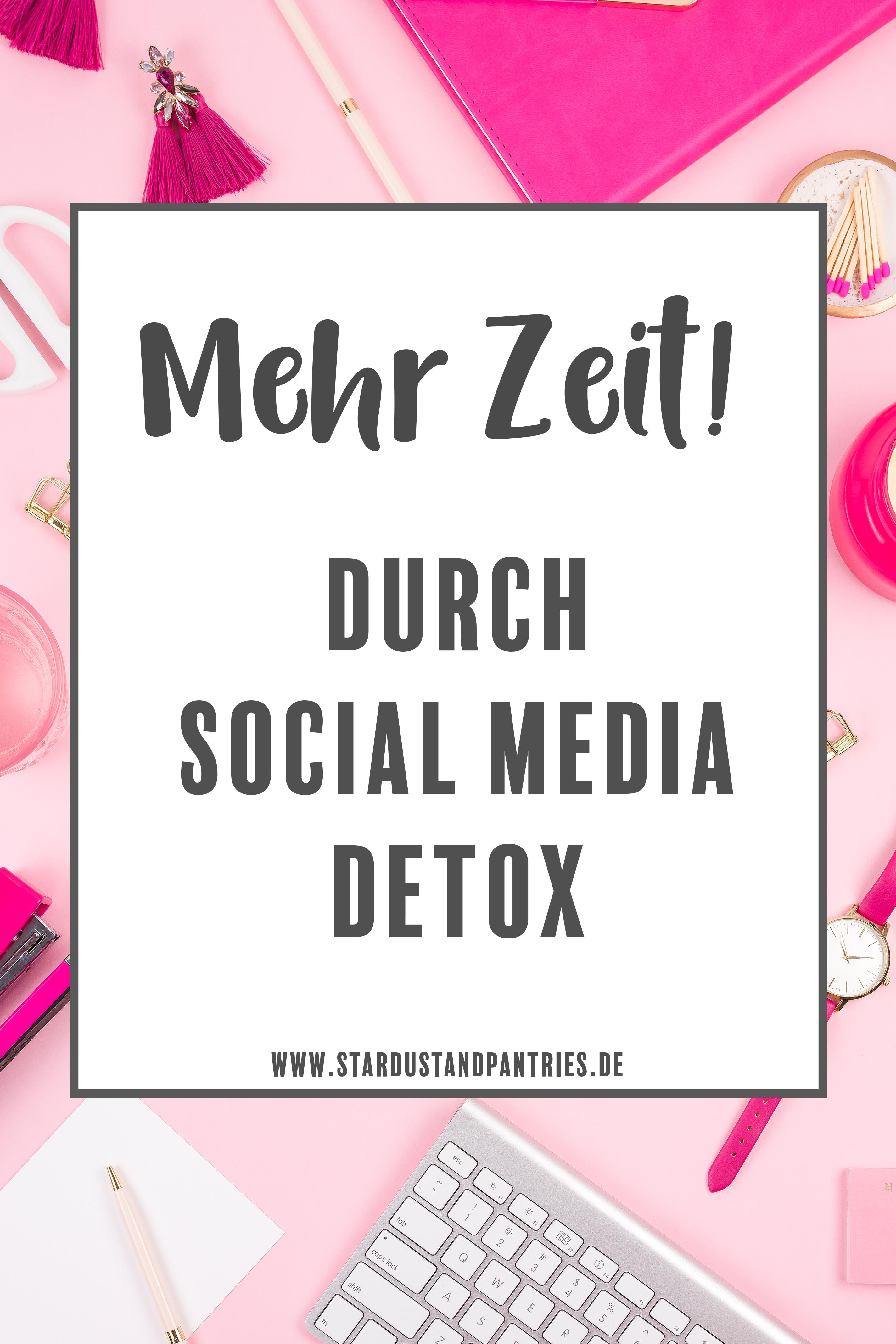 Mehr Zeit durch einen 7-Tage Social Media Detox. Klick dich durch für viele Tipps und Ideen was du stattdessen tun kannst! #selfcare #socialmediadetox #mehrzeit