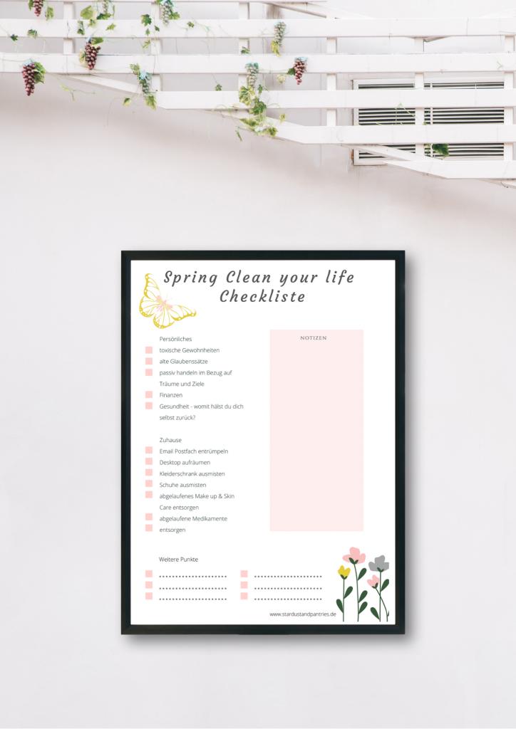 Frühjahrsputz Tipps für dein Zuhause, aber auch weitere Lebensbereiche findest du in diesem Beitrag inkl einer Spring Clean Your Life Checkliste. #frühjahrsputz